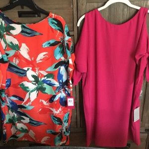 Two split Arm dresses from Vince Camuto